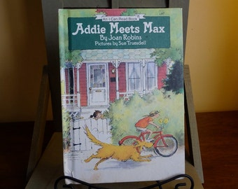 Vintage 'Addie Meets Max' by Joan Robins,  I-Can-Read Children's Book