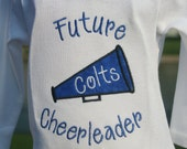 Custom Appliqued Future Cheerleader Shirt/Onesie (This listing is for Long Sleeves)