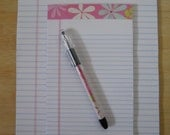 Decorated Note Pads and Pen