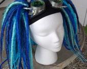 Custom dread falls cyber goth hair cosplay industrial rave cyberpunk