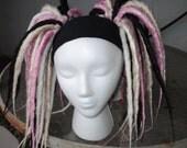 Reserved listing for Kambri Nicole Dreadfalls pink black white blonde cyber goth