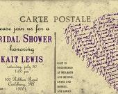Vintage Postcard Bridal Shower Invitation-Print-Yourself