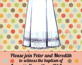 Vintage Christening Gown Invitation-Printable and Custom