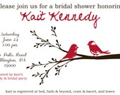 Love birds shower invite- custom printable
