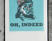 """The Wire - Omar Little """"Oh, Indeed"""" Screen Print"""