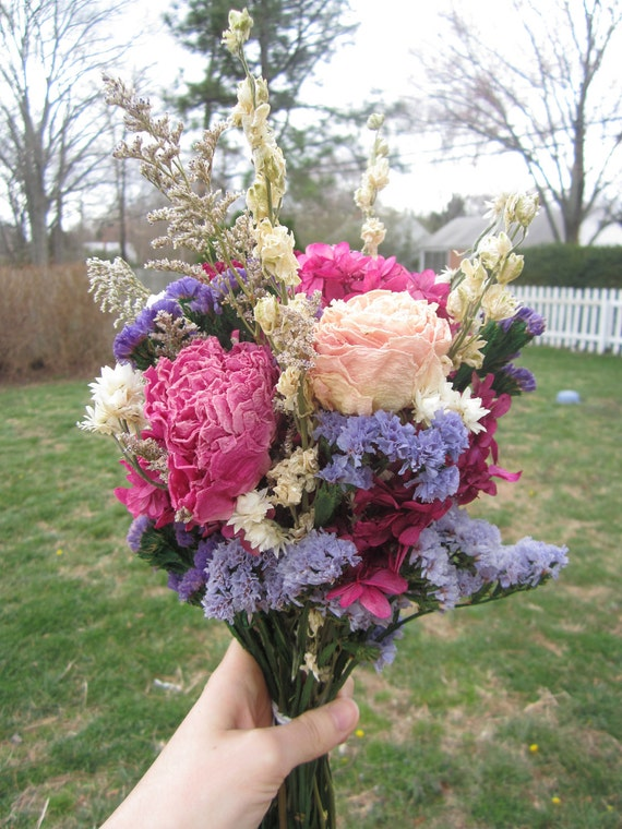 Ready to ship Bouquet Naturally Dried Flowers for Country, Farm, Vintage Chic Wedding Eco-friendly Keepsake for bride