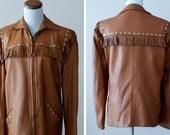 SALE 1950s Leather Jacket / 50s Deerskin Jacket // The Ranchlands