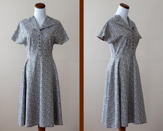 Vintage 1950s Knit Dress // Autumn Girl