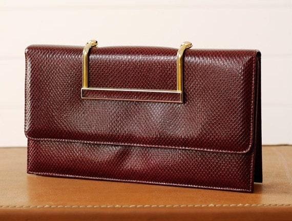 1960s Clutch / 60s Handbag // Bordeaux Beauty, Treasury Item