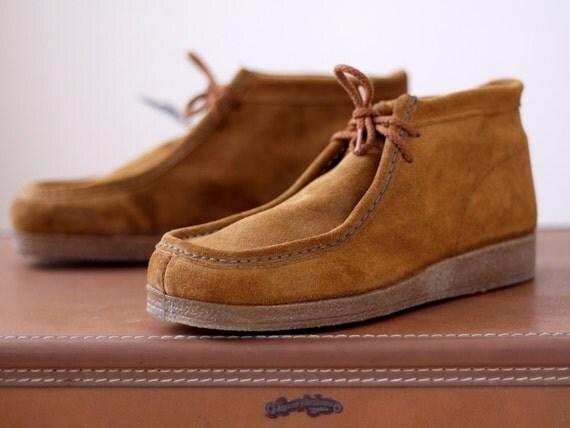1970s Wrangler Chukka Boots NOS / 70s Suede Boots // Chukka Khan