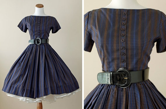1950s Dress / 50s Dress Full Skirt // Sweet Suzy-O