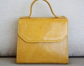 Vintage Purse in Mustard Yellow by Henri Bendel