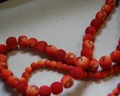 SALE Sandstone (maybe) coral-like burnt orange beads interesting texture 16 inch strands