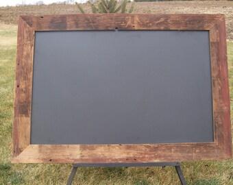 Reserved for Ray -- Custom Made Barnwood Framed Chalkboards