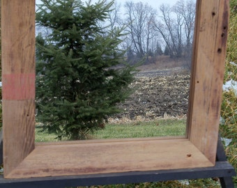 Custom Made Barnwood Framed Mirror -  12 inches x 12 inches