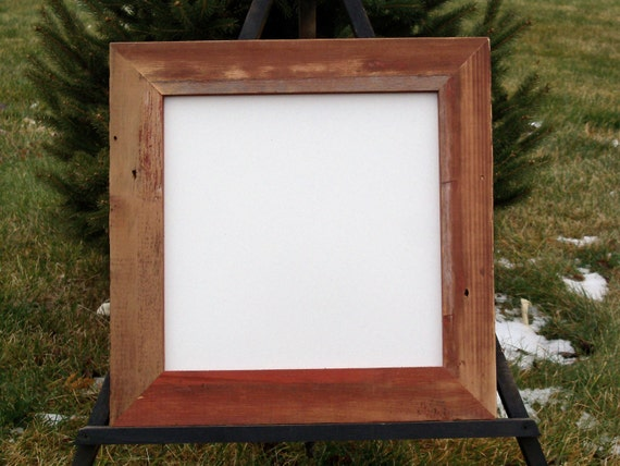 """Red Barnwood Frame with 12"""" x 12"""" Dry Erase"""