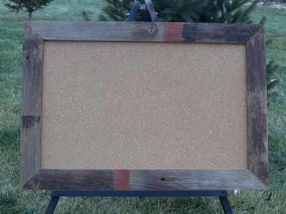 Brown Barnwood Frame with Corkboard