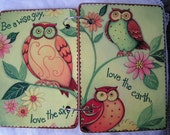 Wise Owls wooden book