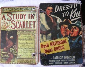 Sherlock Holmes Movie Poster wooden book