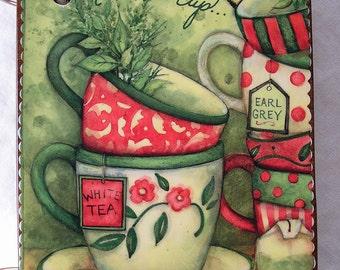 Christmas Tea wooden book