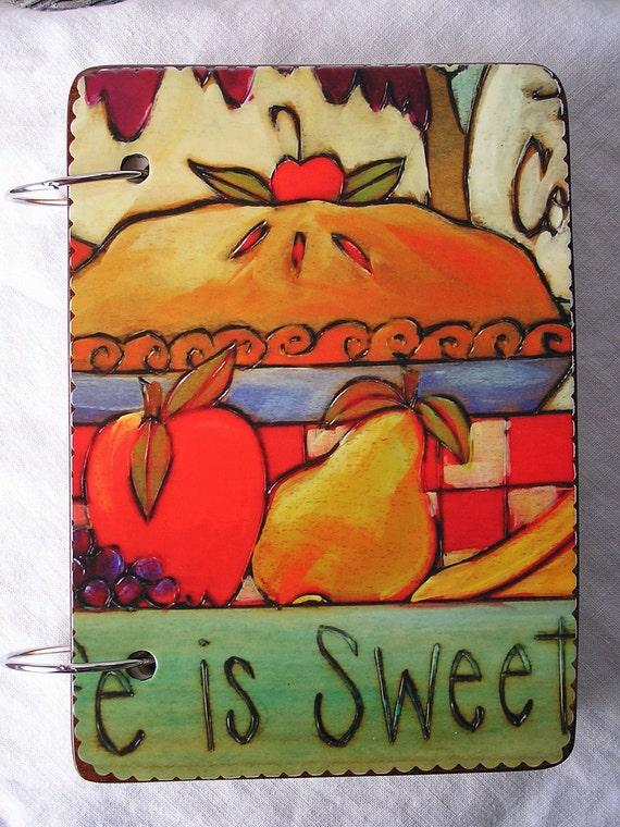 Pie and Cake wooden book