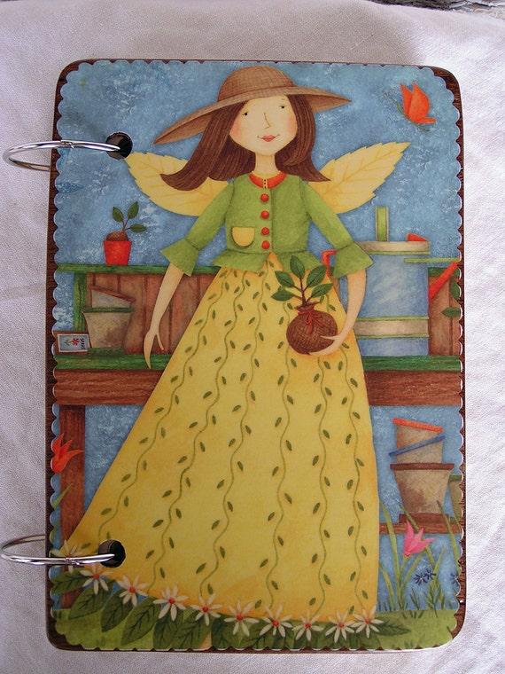 Garden Angels wooden book