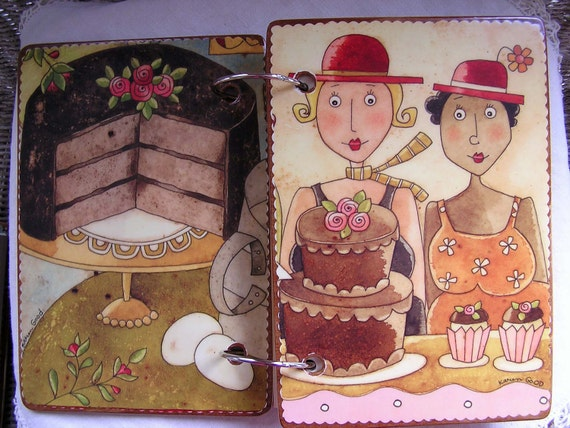 The Chocolate Cake Girls wooden book