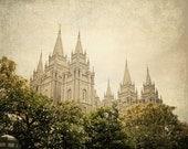 INSTANT DOWNLOAD Heirloom - Salt Lake City LDS Temple,  fine art print home decor