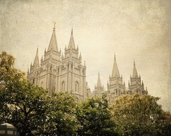 INSTANT DOWNLOAD Heirloom - Salt Lake City LDS Temple,  fine art print home decor