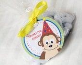 Birthday Monkey Party Favor Tags - DIY Printable Digital File