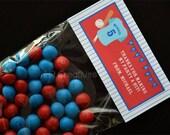 Personalized Baseball Birthday Treat Bag Topper - Personalized Uniform - DIY Printable Digital File