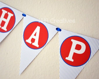 Happy Birthday Baseball Banner - DIY Printable Digital File