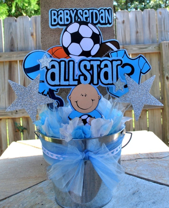 items similar to allstar baby shower centerpiece on etsy