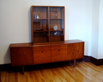 Sale: Exceptional MCM Danish Teak Sideboard & Display Case ~ Arne Vodder ?