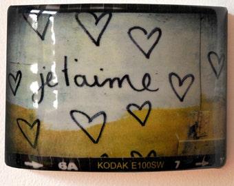 Je t'aime ceramic wall art