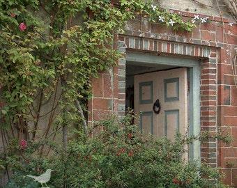 Charleston Farmhouse Doorway Bloomsbury Group Fine Art Photograph 5 x 5 inches