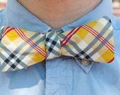 Prepster Plaid Self Tie Bow Tie