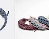SALE blue-grey cotton thread bracelet