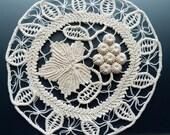 3-D Grape Vine Crocheted Doily Wheel