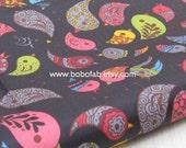"3011A - 1 yard Vinyl Waterproof Fabric -Bird(Black) - 57""X36"""