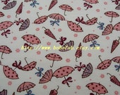 2013C  - 1 meter Cotton fabric  -  Umbrella (White)