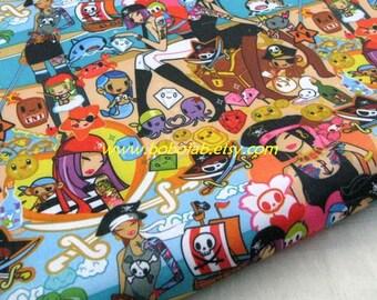 "3118A  - 1 yard Vinyl Waterproof Fabric - Cartoon Characters - girls - 57""x36"""