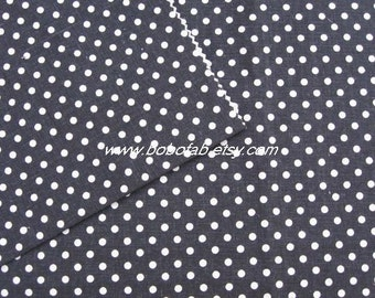 6343A - Cotton Linen Blend Fabric - Dots  (black) - by the yard