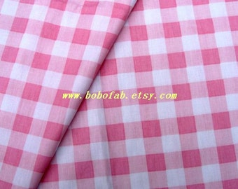 "2710 - 1 meter twill cotton fabric - Patch (pink)  - 63""x39"""
