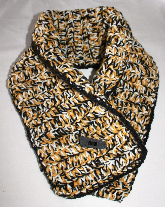 items similar to new orleans saints black and gold scarf