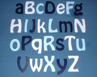 "Alphabet Letter Set 6"" size complete set of Painted wooden wall letters (12.00 shipping) Nursery Child Room Decor"