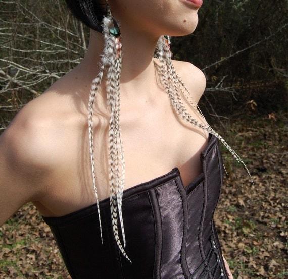 HUNTRESS Long Feather Earrings SALE