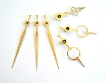 Clock Hands assortment of 6 - repurpose, reuse