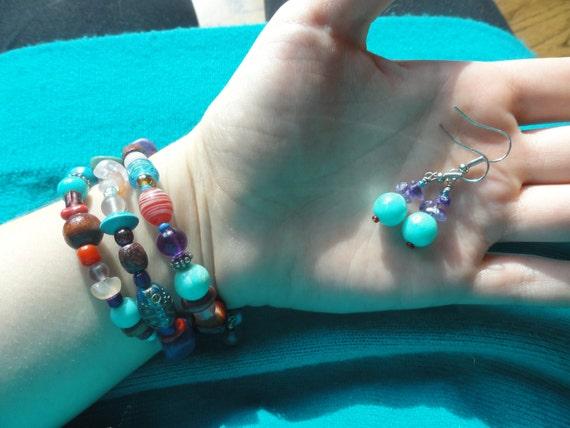 Sagittarius Bracelet and Earring Set