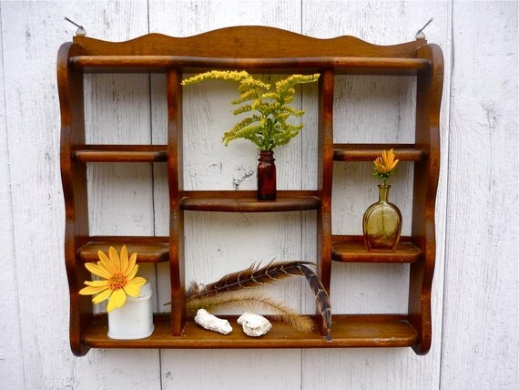 vintage wooden shelf